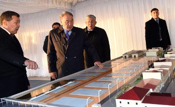 Н.Назарбаев посетил завод по очистке риса в Кызылорде