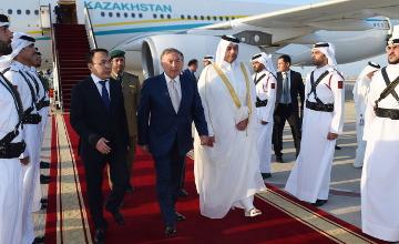 Kazakh President arrives in Qatar for official visit