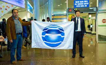 ЭКСПО жалауы Астанаға жетті (ФОТО)