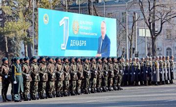 Алматыда 500 жас сарбаз әскери ант қабылдады (ФОТО)