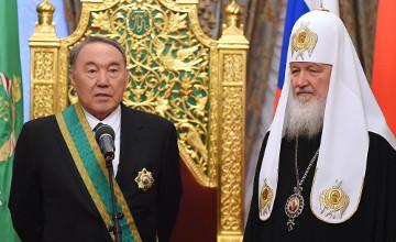 Nazarbayev awarded with 1st Degree Order of St. Sergius of Radonezh