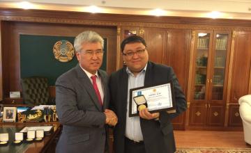 Мәдениет және спорт министрі блогерлерді «Қазақ хандығының 550 жылдығы» мерейтойлық медальдарымен марапаттады