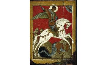 В Атырау доставлены мощи святого Георгия Победоносца