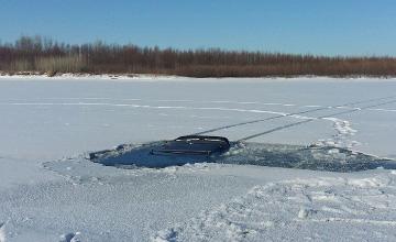 Павлодар облысында балықшылардың көлігі мұздың астына түсіп кетті