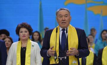 President: Nur Otan gained record 82% of vote  (PHOTO)