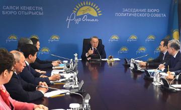 President Nazarbayev sets goals for Nur Otan Party