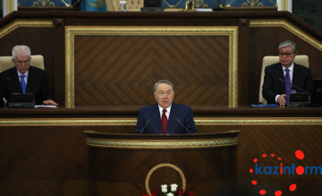 Nazarbayev participates in joint session of Kazakh Parliament chambers