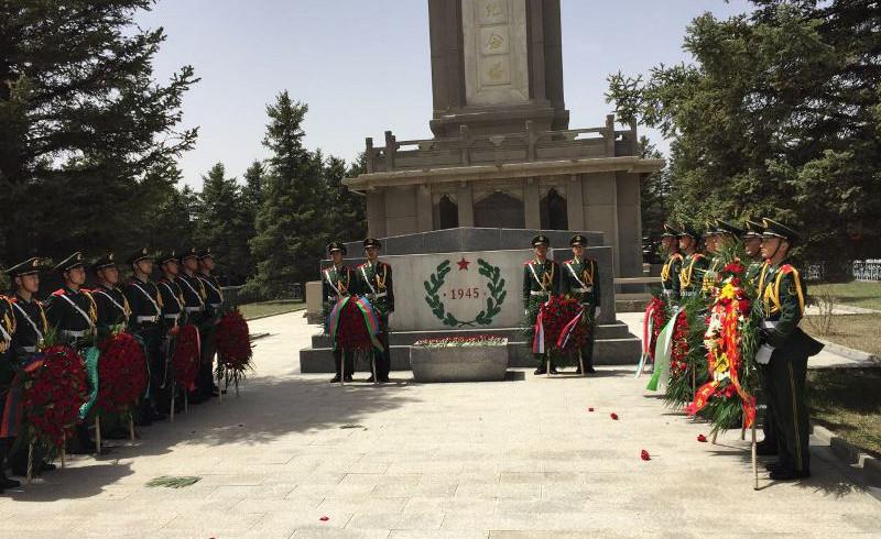 В Китае почтили память казахстанских фронтовиков  (ФОТО)