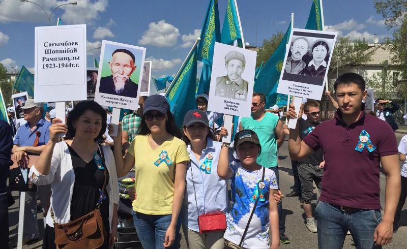 А.Сагимбаева: «Бессмертный полк» - это сила и энергия предков, которые передают ее благодарным потомкам (ФОТО)