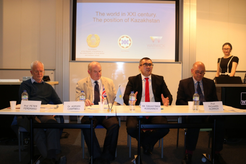 "University of Warwick held seminar on ""The World in XXI century. The position of Kazakhstan"""