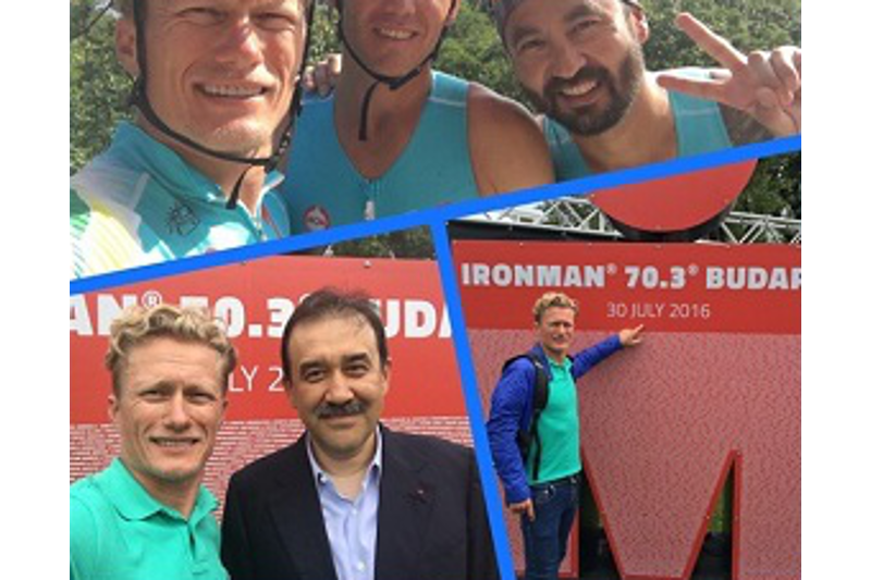 Karim Massimov arrived in Hungary to support Kazakhstani team at IronMan triathlon competition