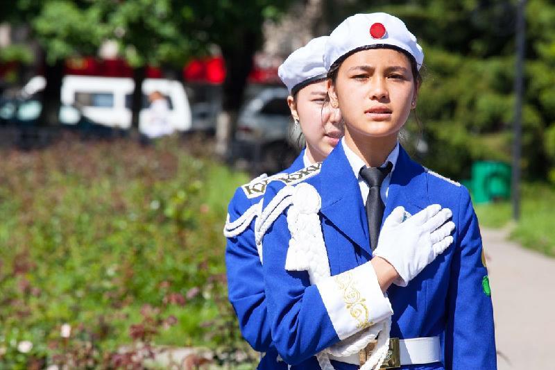 Соревнования юных полицейских прошли в Алматинской области