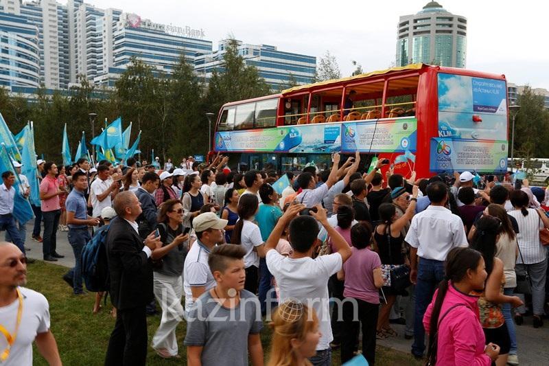 里约奥运奖牌得主与阿斯塔纳市民举行见面会