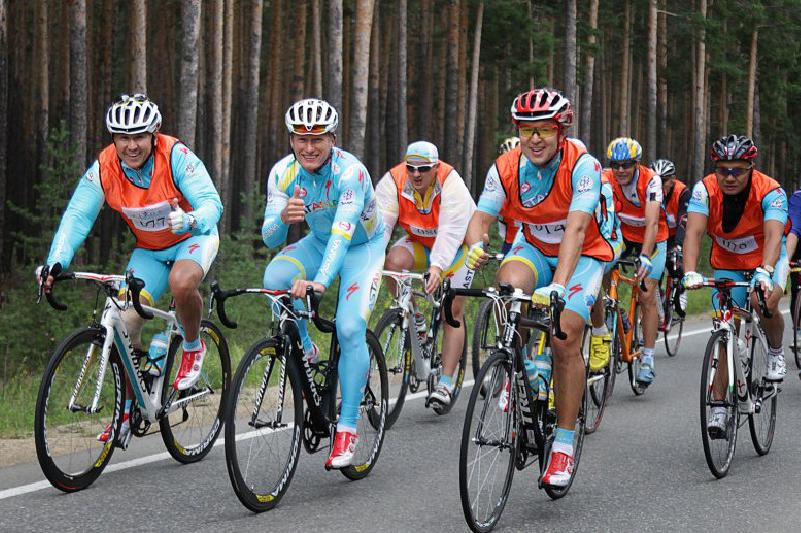 布拉拜慈善自行车赛共筹得善款1.6亿坚戈