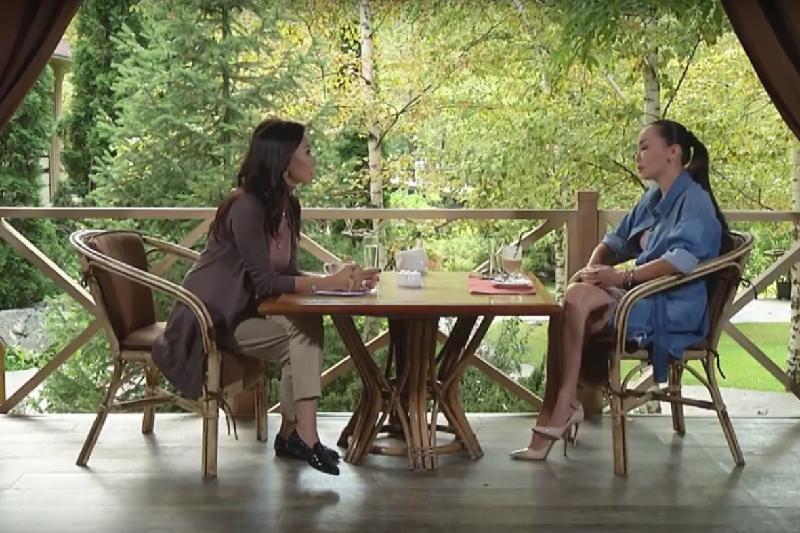Видео с интервью Баян Есентаевой опубликовала Динара Сатжан