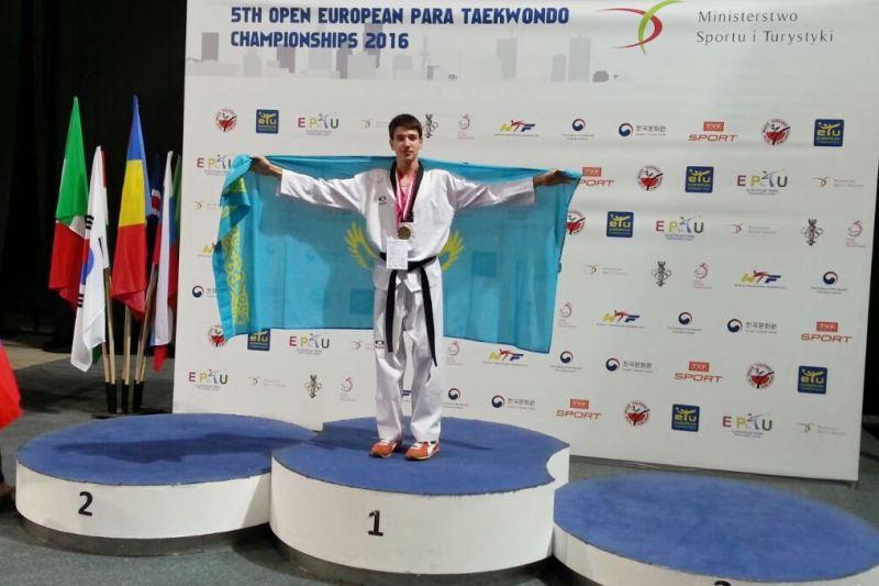 Павлодарский школьник стал чемпионом Европы по паратаэквондо