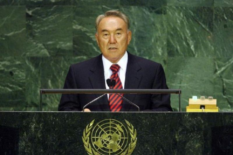 On Oct 5, 1992 N.Nazarbayev delivered his first speech at UN