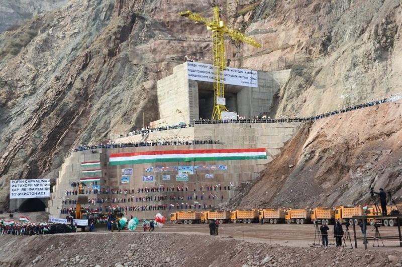 Тәжікстанда әлемдегі ең биік ГЭС бөгетінің құрылысы басталды