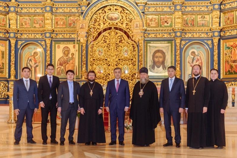 Ермекбаев ознакомился с работой Успенского кафедрального собора Астаны