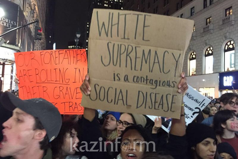 纽约市民示威抗议特朗普当选美国总统