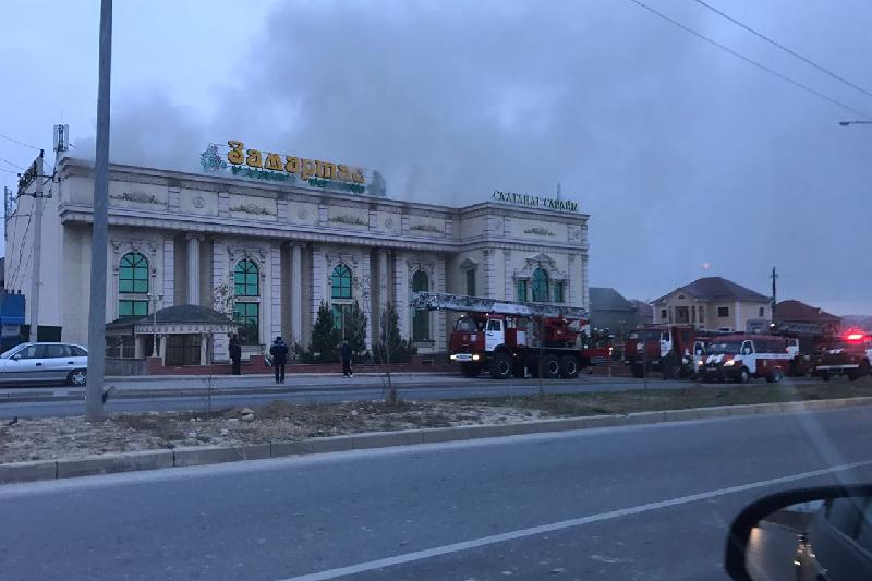 Тойхана горит в Шымкенте