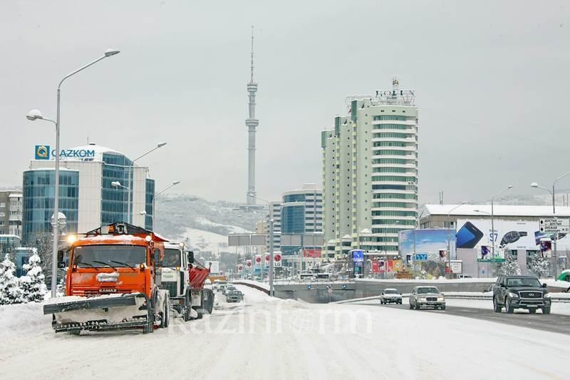 Акимат Алматы поблагодарил инициаторов акции по очистке города от снега