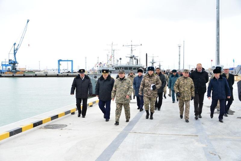 Первый военный пирс открыли в Актау