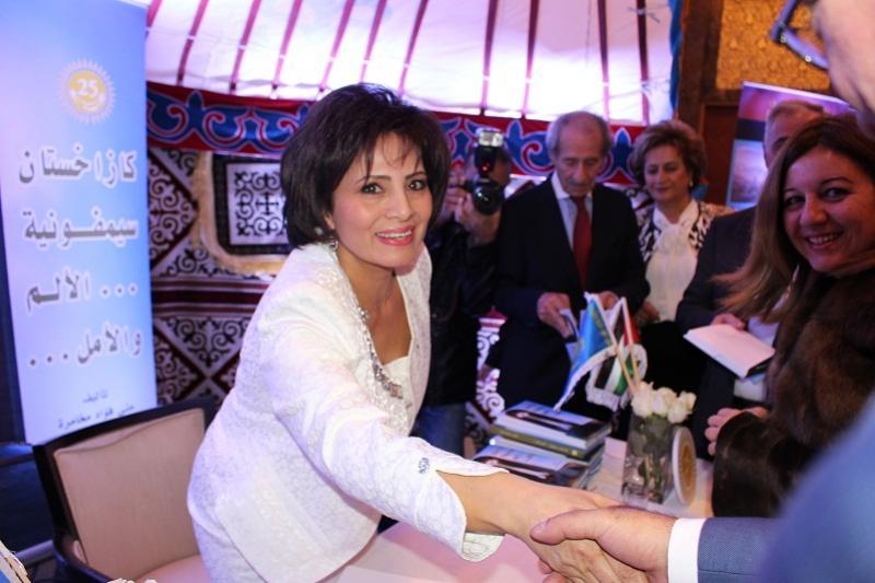 Известный иорданский писатель Муна Махамрех представила книгу о Казахстане