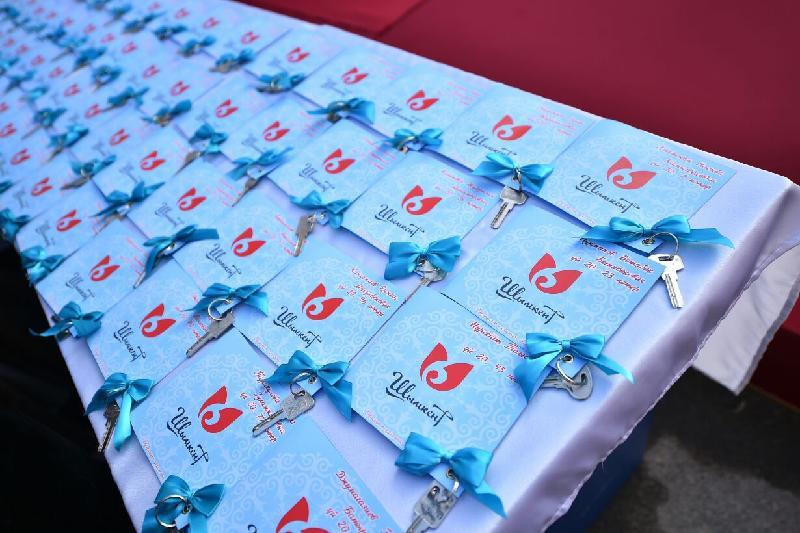 70 молодых семей получили жилье в Шымкенте
