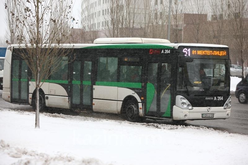 Интервал движения ряда автобусов в Астане сократят до пяти минут