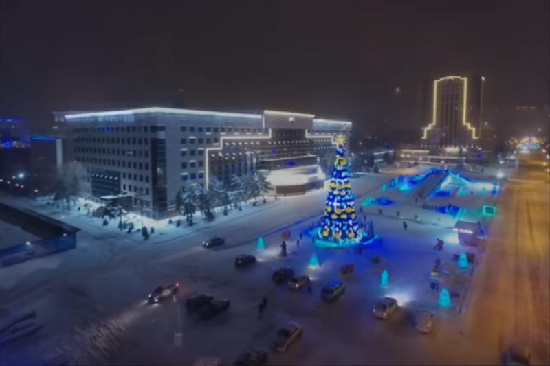 Асет Исекешев поделился видеороликом предновогодней Астаны