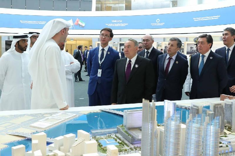 Президент РК посетил свободную финансовую зону Abu Dhabi Global Market