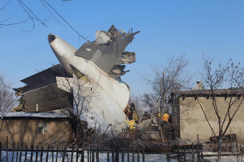Комиссия МАК завершила работы на месте авиакатастрофы под Бишкеком