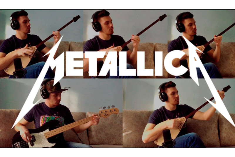 Almaty resident released dombra-Metallica 'Battery' cover