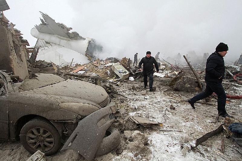 Черные ящики с разбившегося под Бишкеком самолета отправили в Москву