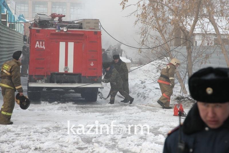 Из-за пожара на складе в городе Кульсары эвакуировали детсад