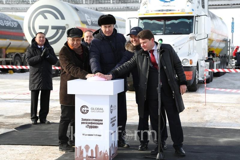 Первая станция регазификации российского природного газа заработала в Астане