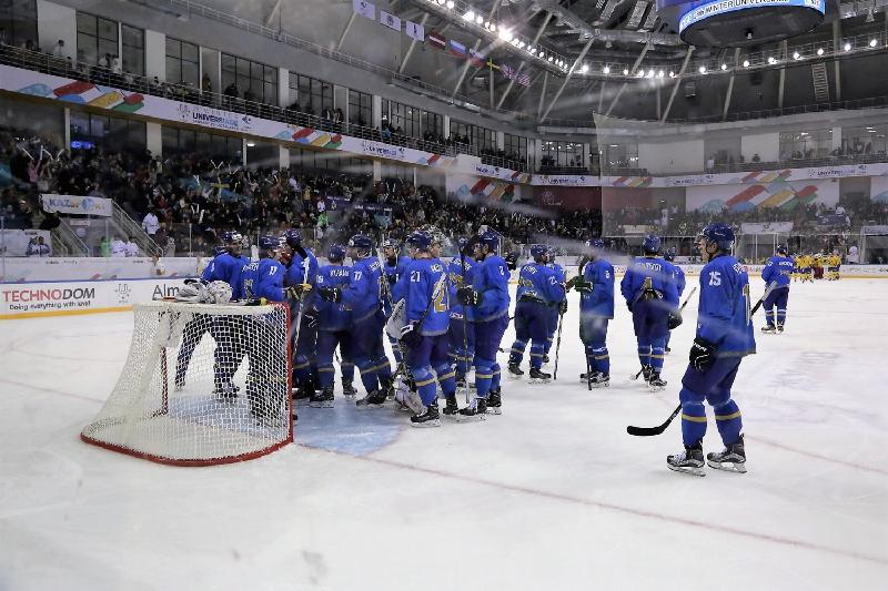 Kazakhstan ice hockey team lost to Russians in final match