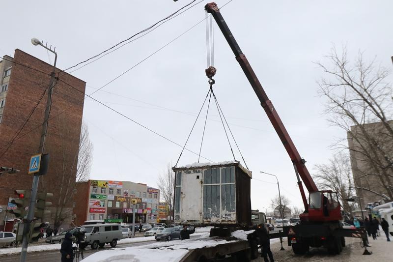Торговые киоски сносят в Павлодаре