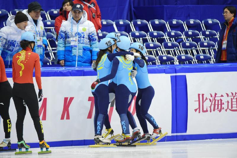 2017亚冬会:我国获短道速滑项目女子组决赛铜牌