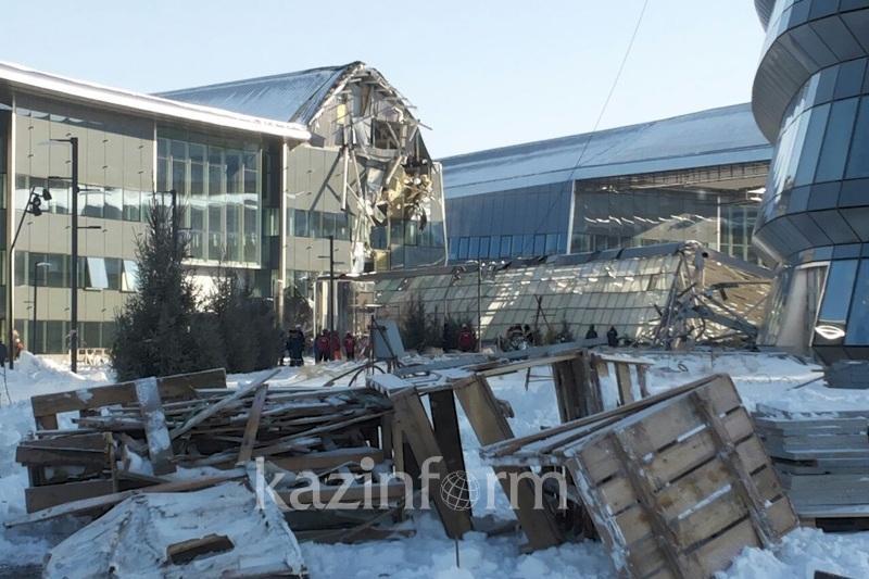 В МВД назвали причину обрушения конструкции ЭКСПО-2017
