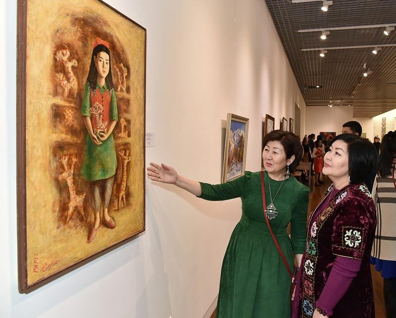 Современное искусство Узбекистана представили в Нацмузее РК