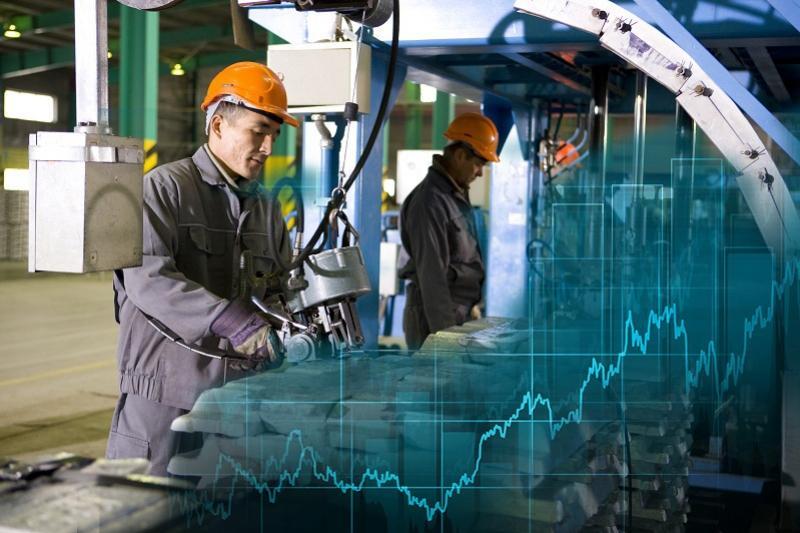 Рост производительности труда в обрабатывающей промышленности  наблюдается в РК