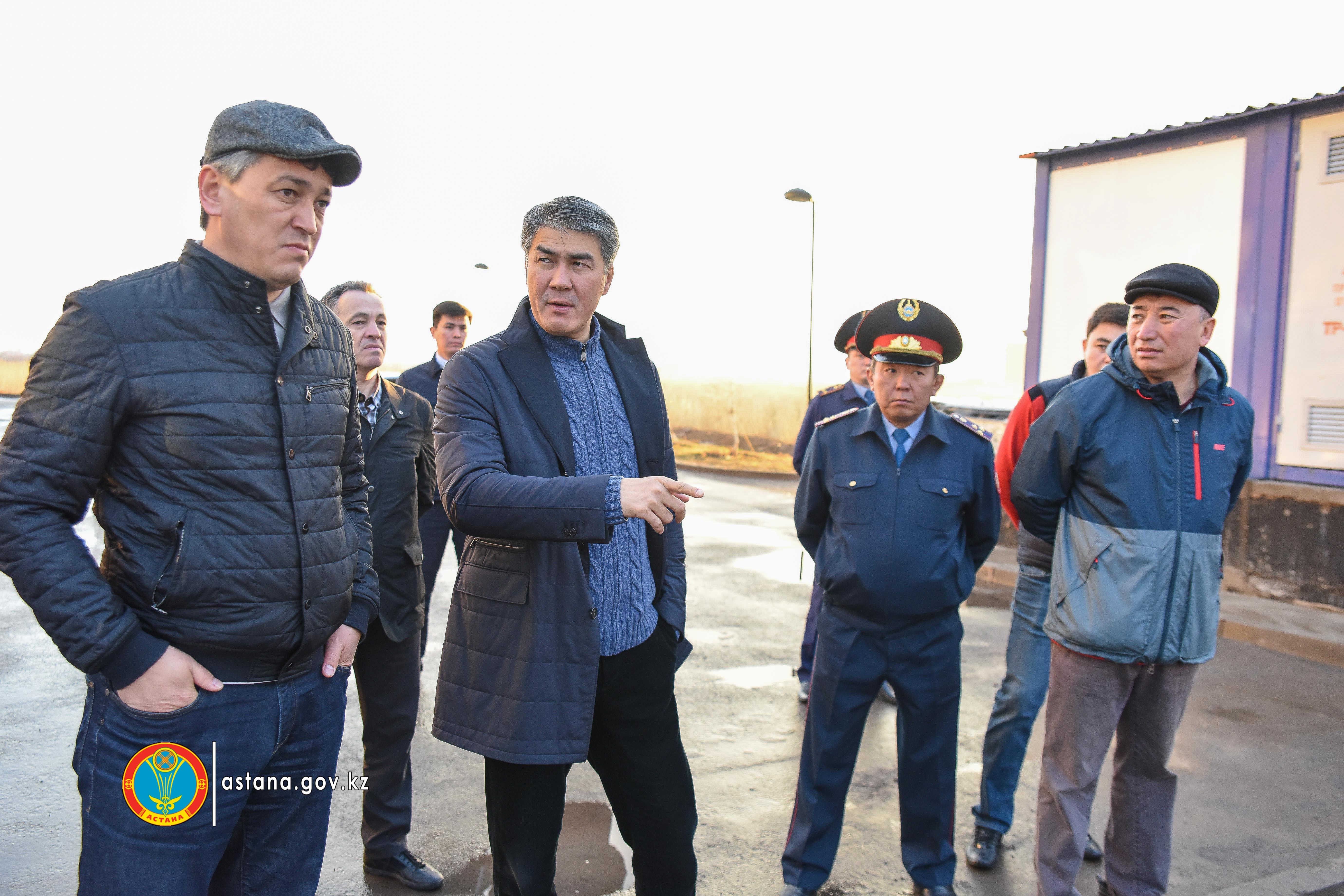 Астана әкімі Елбасы ескертуінен кейін таң атпастан елорда нысандарын аралап шықты