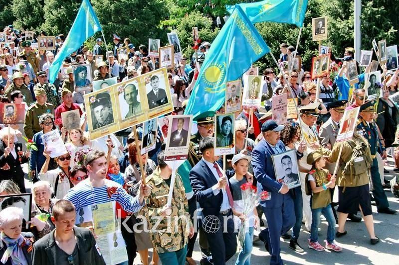 Более 60 тыс алматинцев приняли участие в марше «Бессмертного полка»