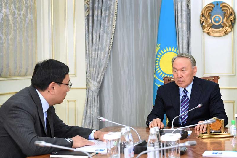 Head of State meets with Chairman of Baiterek Holding