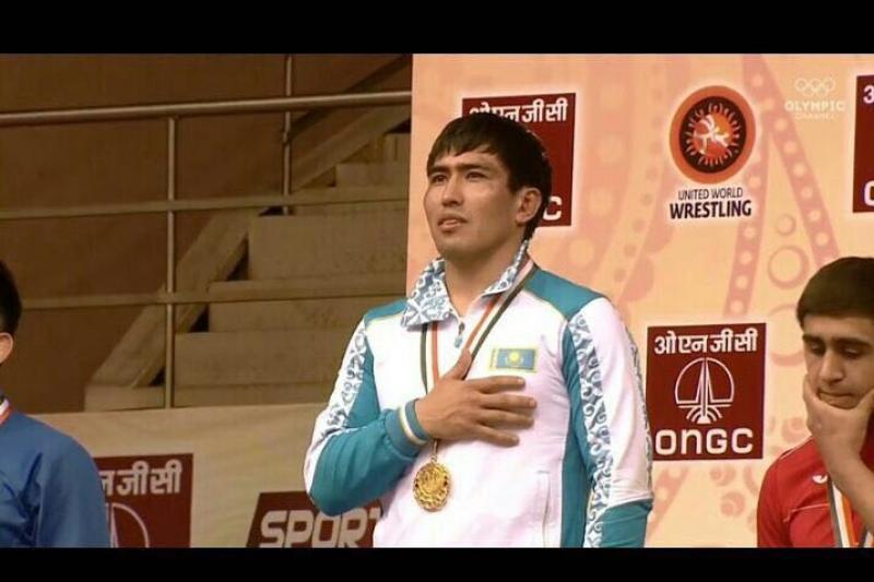 Атырауский борец завоевал «золото» на чемпионате Азии в Нью-Дели