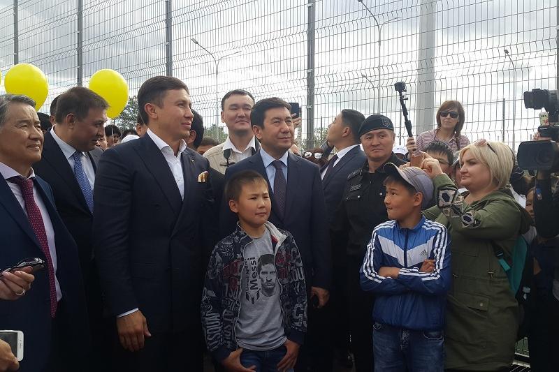 Геннадий Головкин открыл в Караганде спорткомплекс с бесплатным посещением