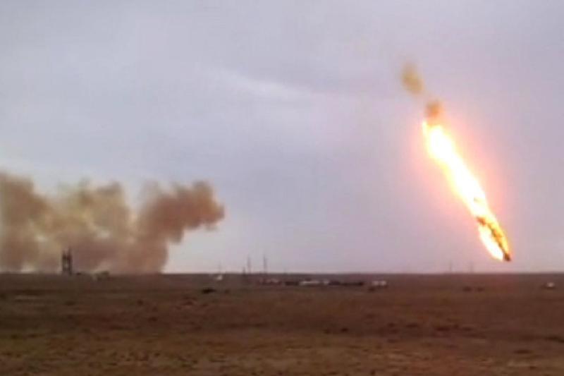 Пожар в степи после падения блоков ракеты «Союз -2.1а» длился 12 часов