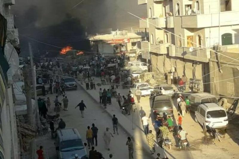 Сирия базарындағы жарылыстан 60  адам жараланды